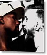 Conor Mcgregor And Floyd Mayweather Face Off  Metal Print