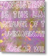 Consistency Metal Print by Abbey Hughes