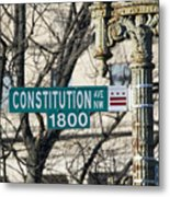 Constitution Avenue Street Sign Metal Print