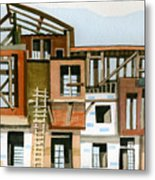 Construction 5 Metal Print by Ashley Lathe