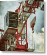Construction Crane Metal Print by Wim Lanclus