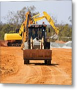 Construction Digger Metal Print