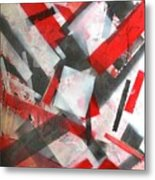 Construction In Red Metal Print
