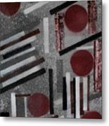 Construction On Dirty Snow Metal Print