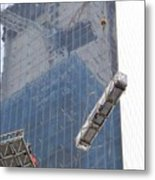 Construction Reflection Metal Print