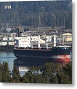 Container Ship Ready To Load More Lumber Metal Print