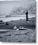Contemplation - Beach - California Metal Print