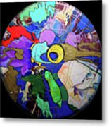 Contemporary Art - Abstract In The Round  Metal Print