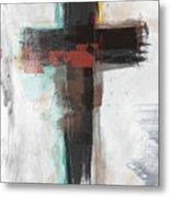 Contemporary Cross 1- Art By Linda Woods Metal Print