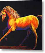 Contemporary Equine Painting Illuminating Spirit Metal Print