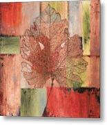 Contemporary Grape Leaf Metal Print