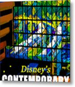 Contemporary Window To The World Metal Print