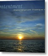 Contentment Metal Print
