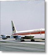 Continental Airlines 720-024b N17207 Los Angeles July 22 1972 Metal Print