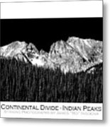 Continental Divide - Indian Peaks - Poster Metal Print