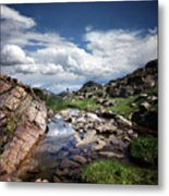 Continental Divide Above Twin Lakes 3 - Weminuche Wilderness Metal Print