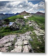 Continental Divide Above Twin Lakes 6 - Weminuche Wilderness Metal Print