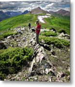 Continental Divide Above Twin Lakes 7 - Weminuche Wilderness Metal Print