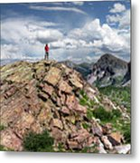 Continental Divide Above Twin Lakes - Weminuche Wilderness Metal Print