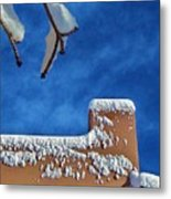 Contrast After The Snow Metal Print