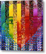 Conundrum I - Rainbow Woman Metal Print