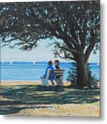 Conversation In The Park Metal Print
