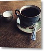 Conversations Over Coffee  Metal Print