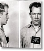 Convict No. 1428 - Whitey Bulger - Alcatraz 1959 Metal Print
