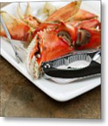 Cooked Crab Ready To Eat  Metal Print