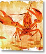 Cooked Lobster On Parchment Paper Metal Print