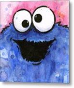 Cookie Monster Metal Print