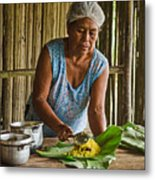 Cooking For Guests Metal Print