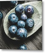 Cooking With Blueberries Metal Print