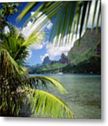 Cooks Bay With Sailboat Metal Print