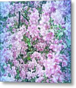 Cool Blue Apple Blossoms Metal Print