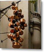 Cool Copper Pots - Parisian Restaurant Left Bank La Rive Gauche Metal Print