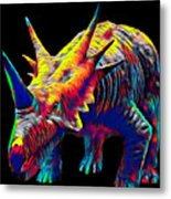 Cool Dinosaur Color Designed Creature Metal Print