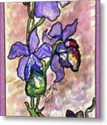 Cool Flower Study Metal Print