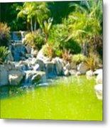 Cool Green Waterfall Metal Print