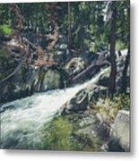 Cool Mountain Stream Metal Print