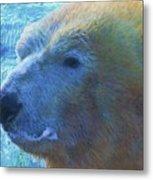 Cool Polar Bear Metal Print