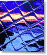 Cool Tile Reflection Metal Print