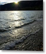 Cool Waters Sunset Metal Print