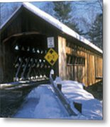 Coombs Winchester Covered Bridge Metal Print