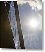 Cooper River Bridge Lens Flair Metal Print