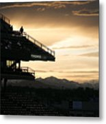 Coors Field At Sunset Metal Print