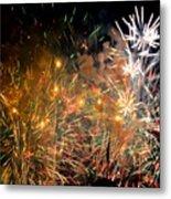Coors Field Fireworks 3 Metal Print