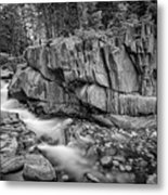 Coos Canyon Black And White Metal Print