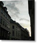 Copenhagen Facades In Shades Of Grey Metal Print