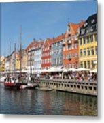 Copenhagen Harbor Metal Print